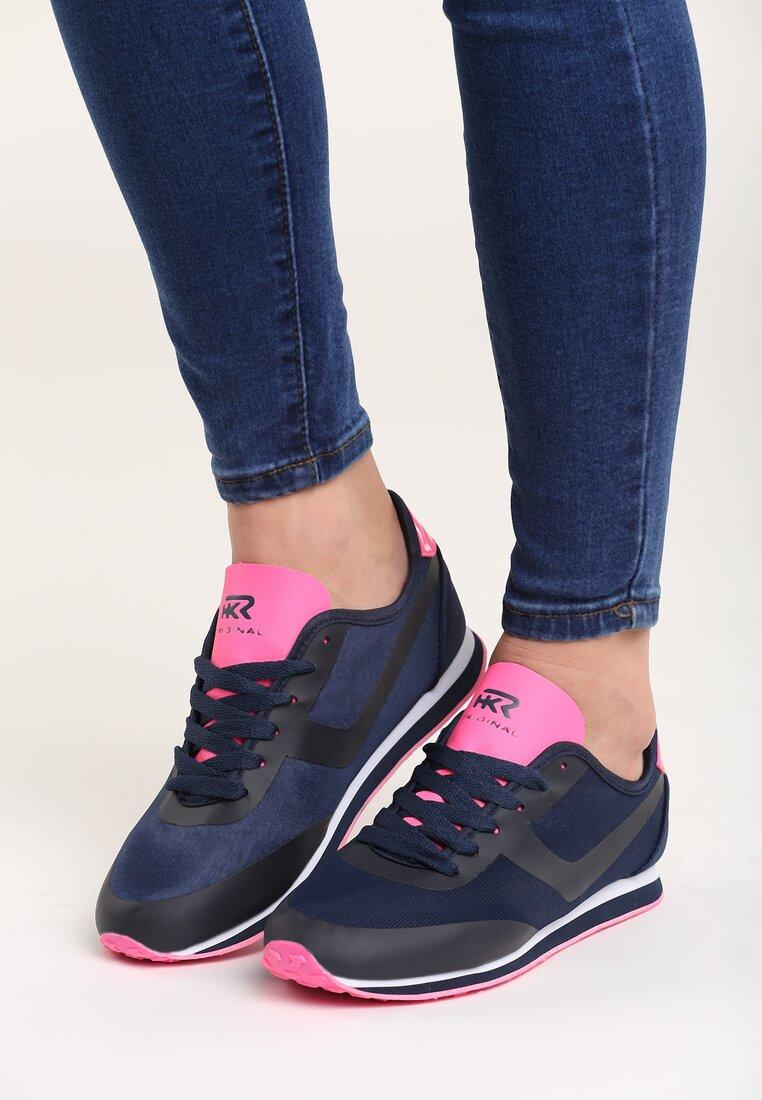 Granatowo-Różowe Buty Sportowe Remedy