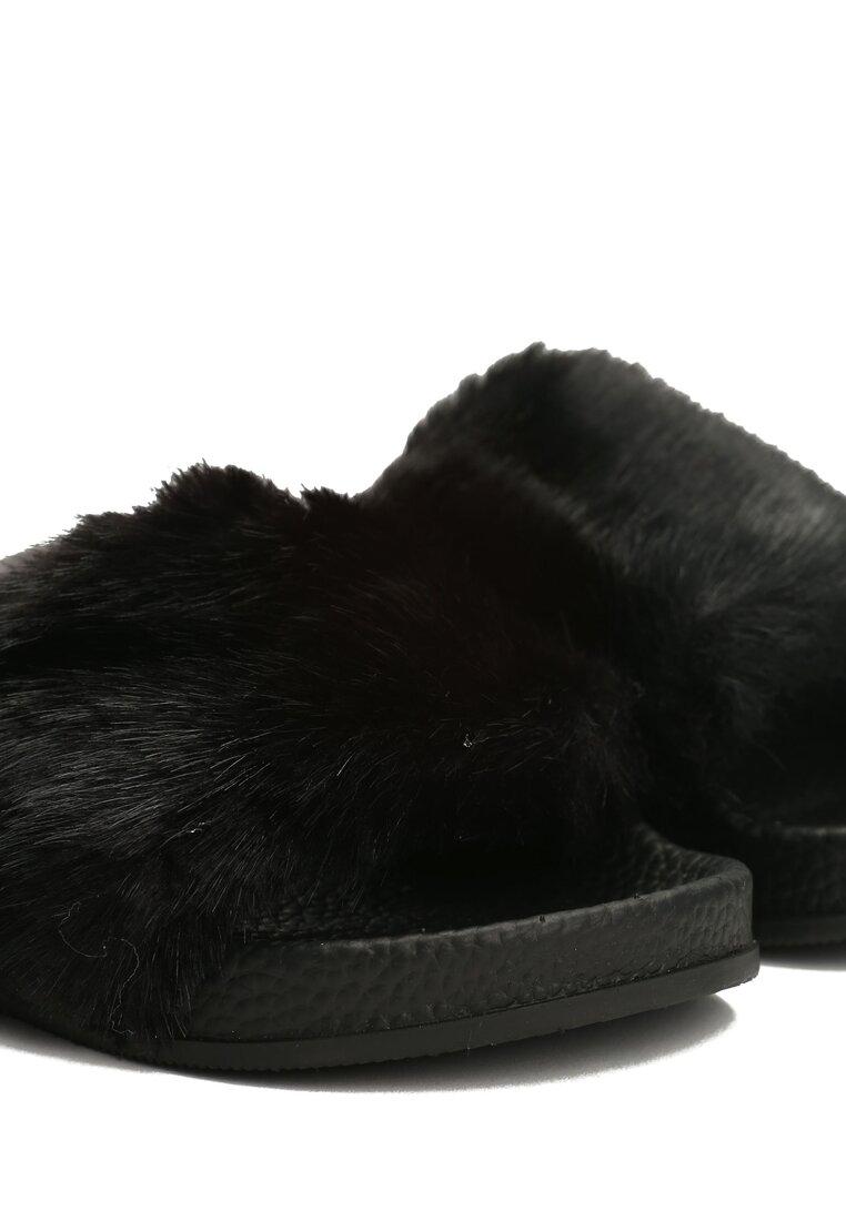 Czarne Klapki Furrygie