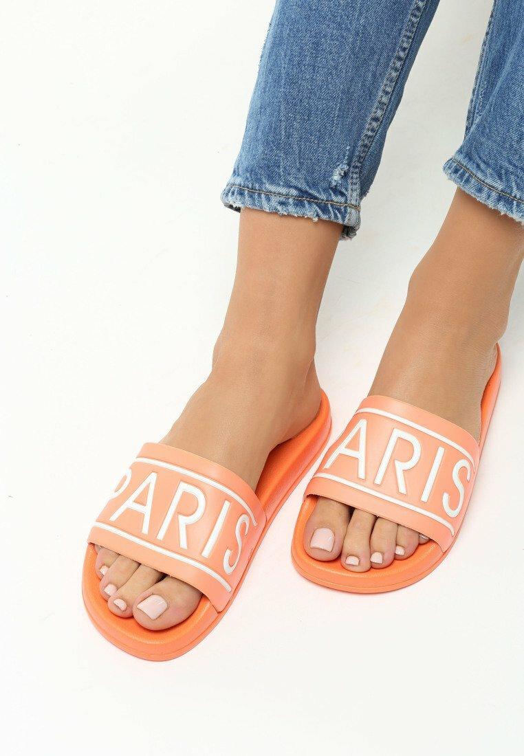 Pomarańczowe Klapki Parisian