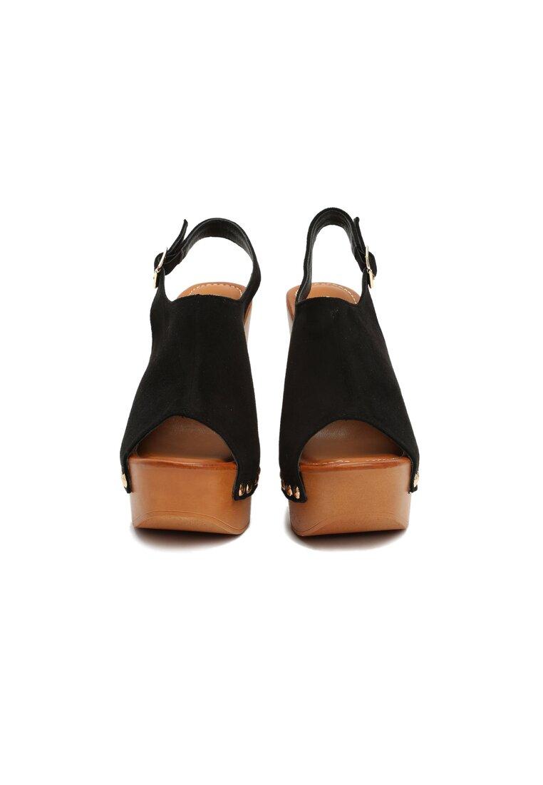 Czarne Sandały Tappers