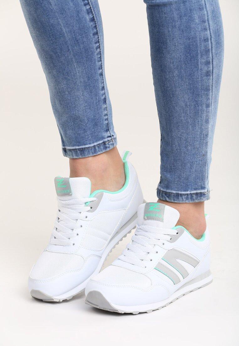 Biało-Miętowe Buty Sportowe Force