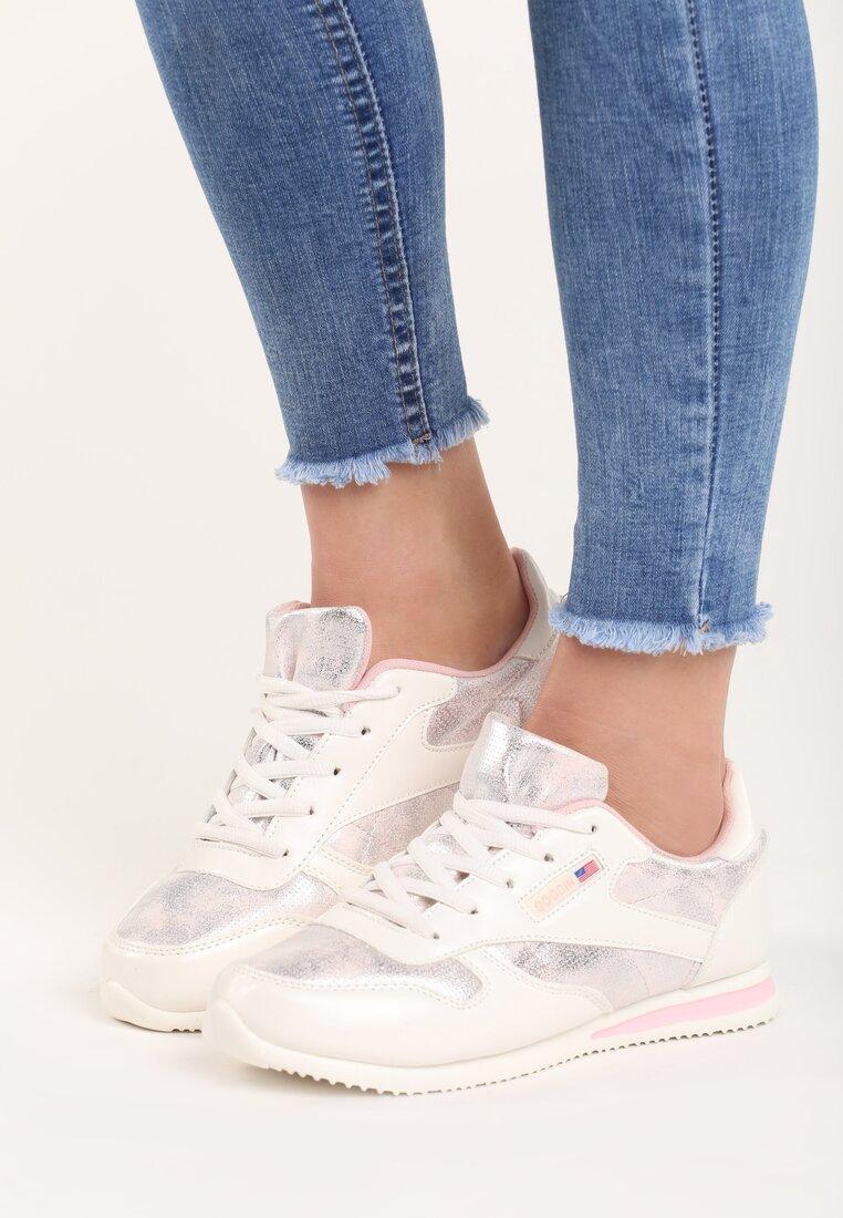 Białe Buty Sportowe Silver Dust