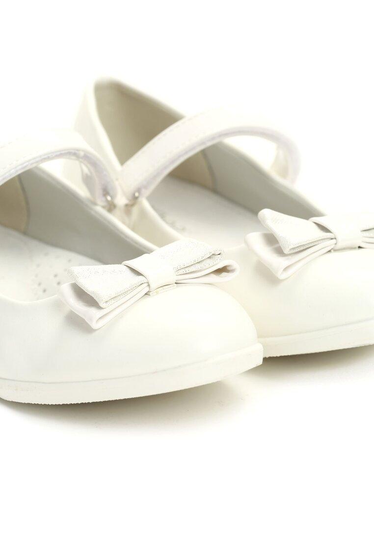 Białe Balerinki Little Shine