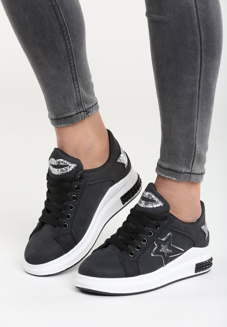 Czarne Buty Sportowe Mallow