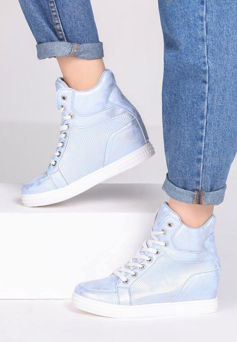 Niebieskie Sneakersy Day Begin