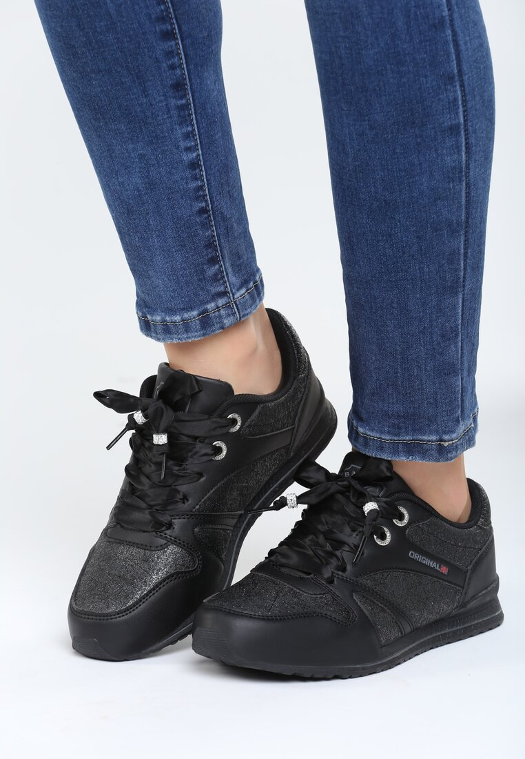 Czarne Buty Sportowe Frame