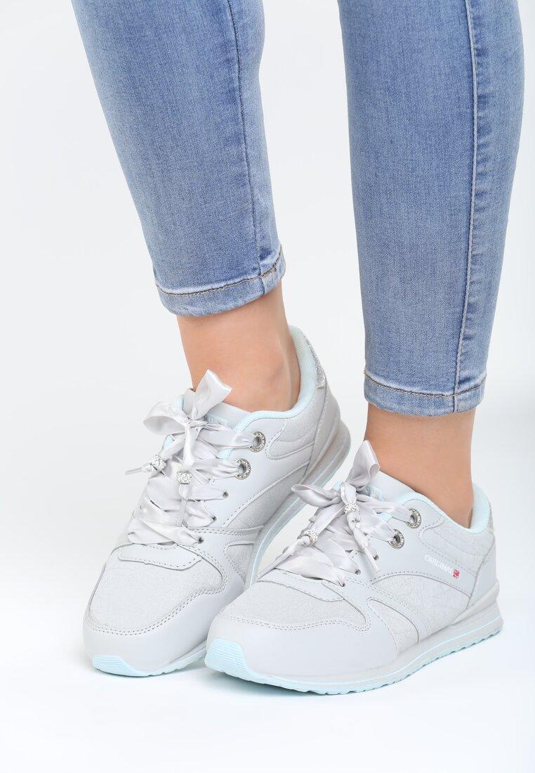Szaro-Niebieskie Buty Sportowe Frame