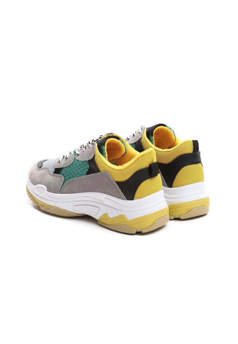 Ciemnoszaro-Miętowe Sneakersy Boomerang