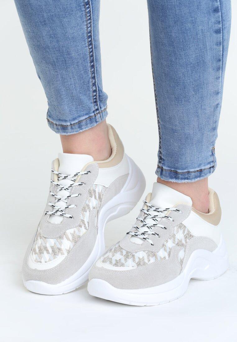 Szaro-Białe Buty Sportowe Pair Sect