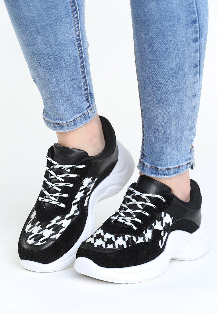 Czarno-Białe Buty Sportowe Pair Sect