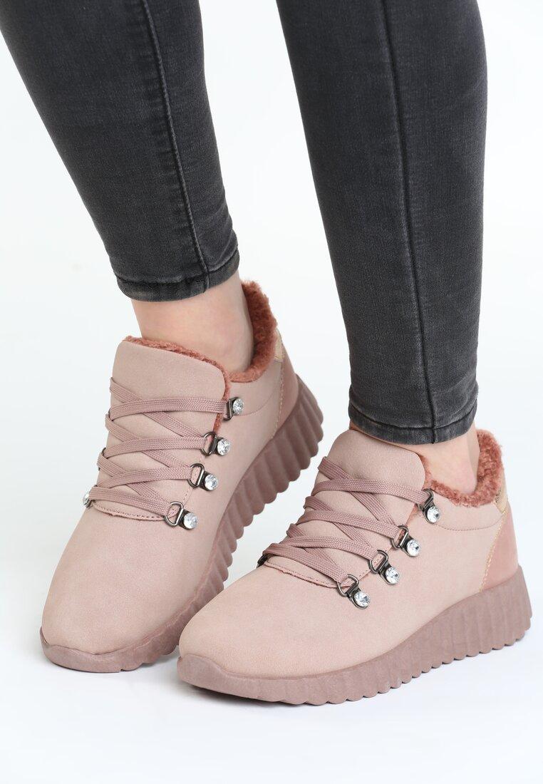Różowe Buty Sportowe Simile