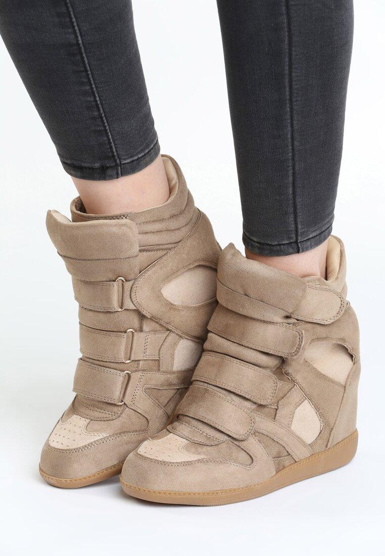 Beżowe Sneakersy Tolerable