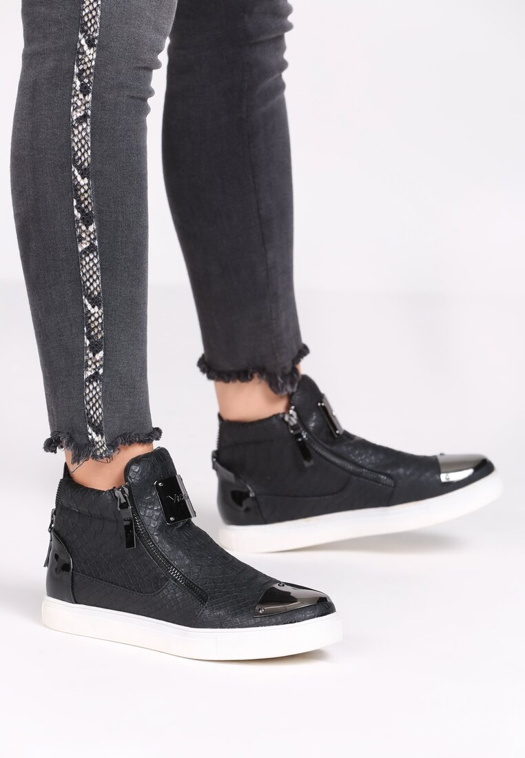 Czarne Sneakersy Giulia