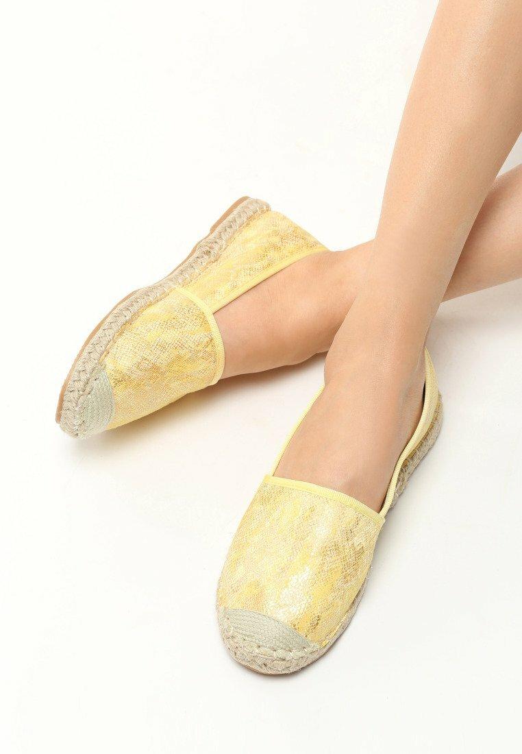 Żółte Espadryle Lihan