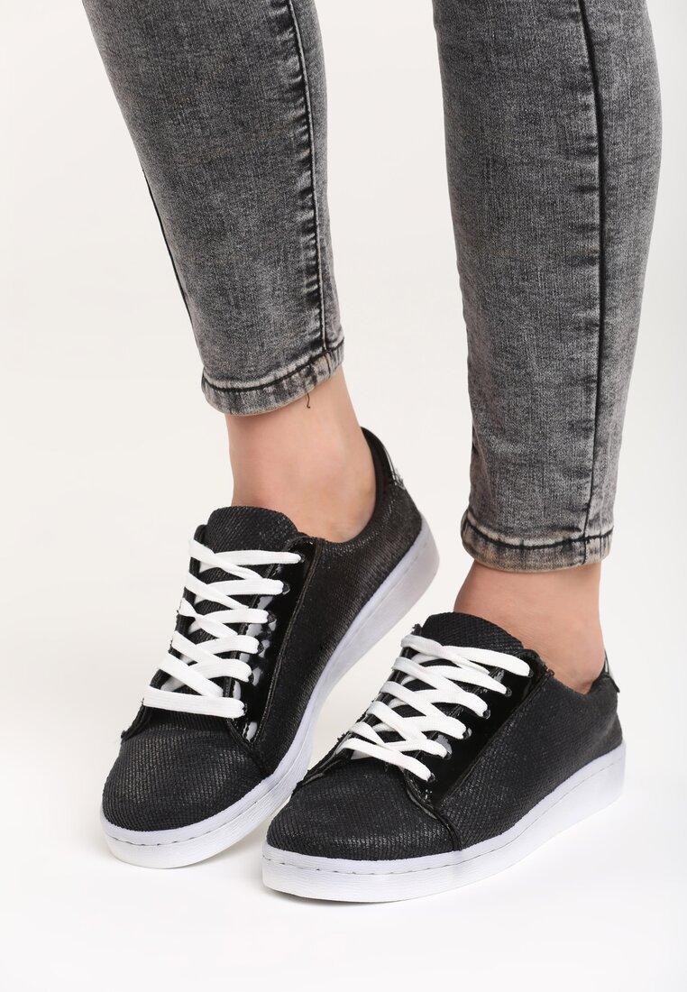 Czarne Buty Sportowe Alma