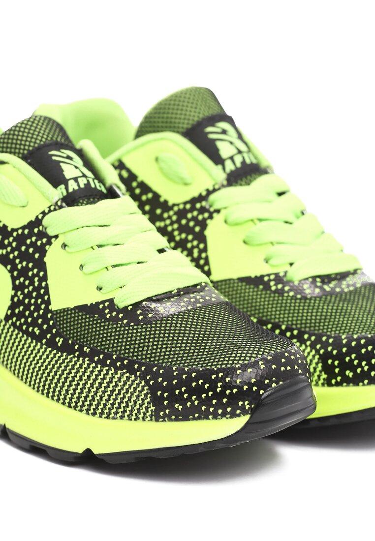 Limonkowe Neonowe Buty Sportowe Candy