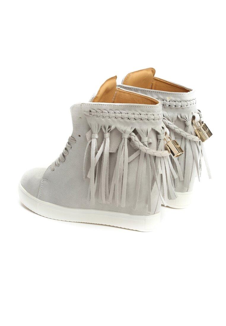 Jasnoszare Sneakersy Laverne