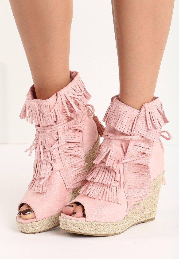 Różowe Sneakersy Sheev