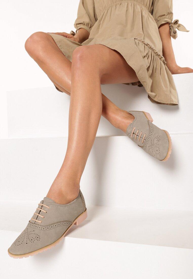 Szare półbuty, buty damskie M.DASZYŃSKI 1628 2 r41