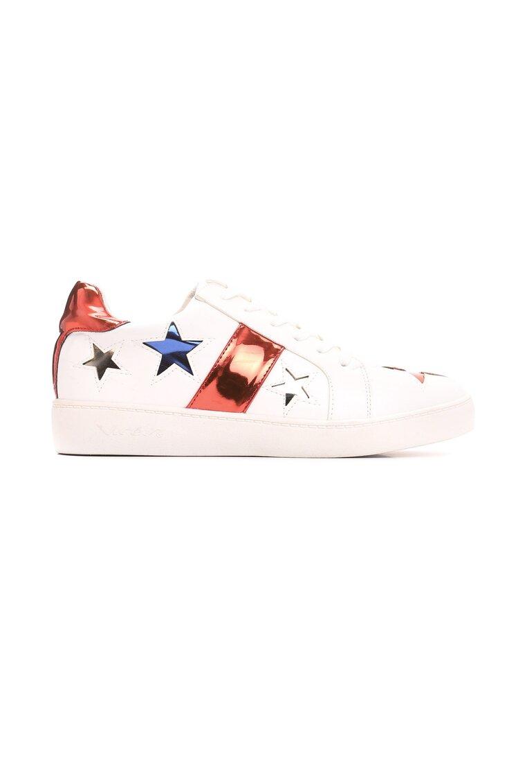 Biało-Czerwone Buty Sportowe Teran