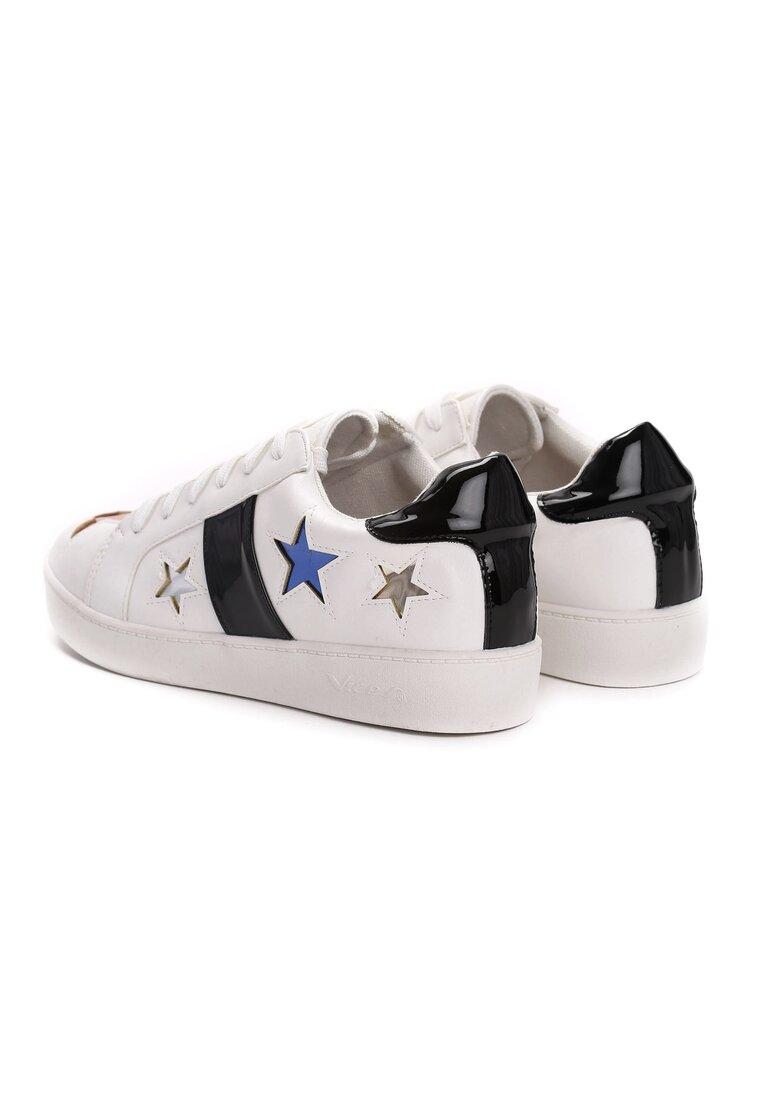 Biało-Czarne Buty Sportowe Teran