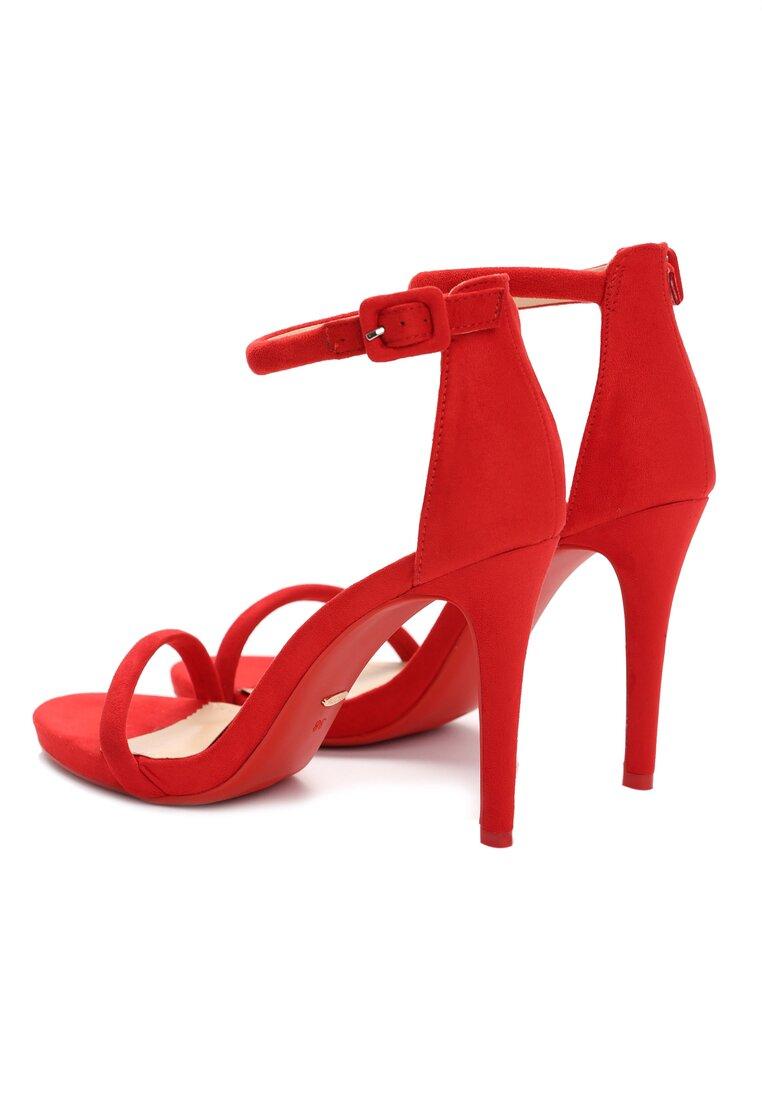 Czerwone Sandały Love Stoned