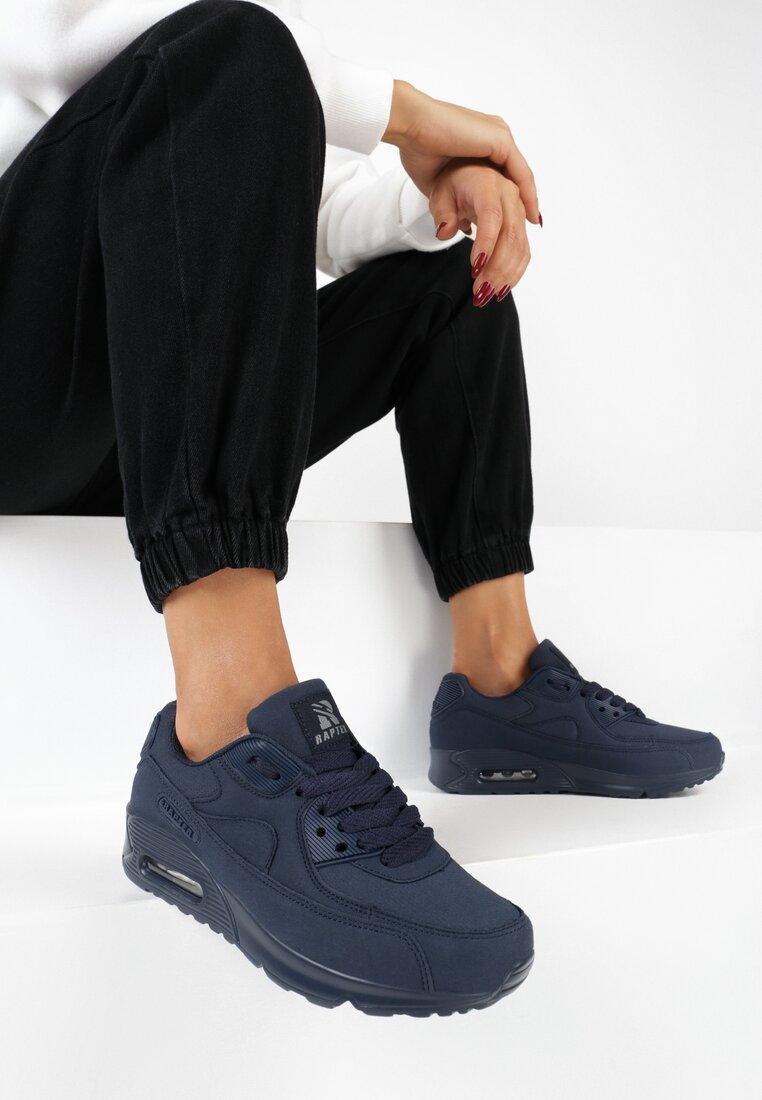 Granatowe Buty Sportowe Vintage Nilda