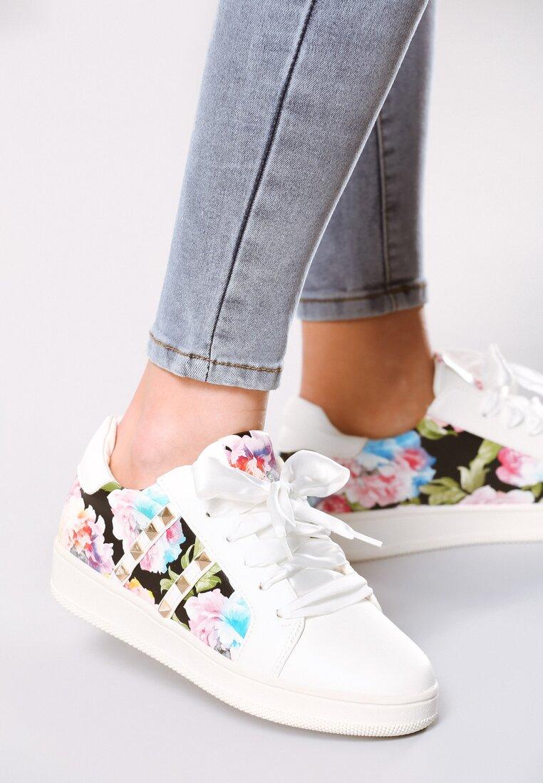 Białe Buty Sportowe Rock Flower