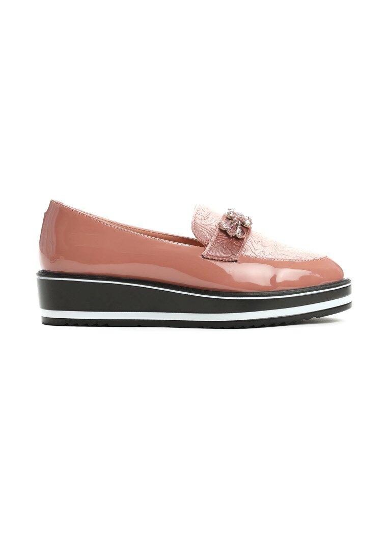Różowe Mokasyny Footcloth