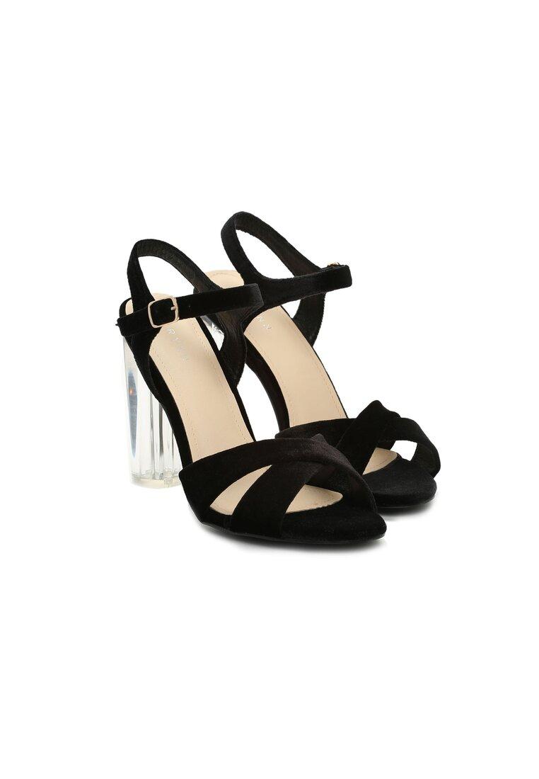 Czarne Sandały In Air