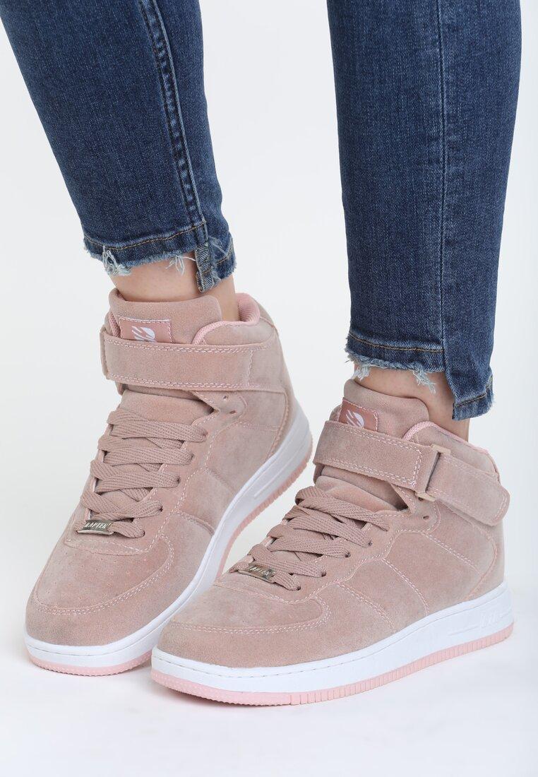 Różowe Buty Sportowe Marciie
