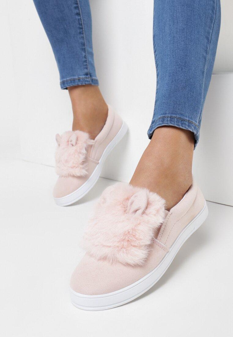 Różowe Slip On Plushy