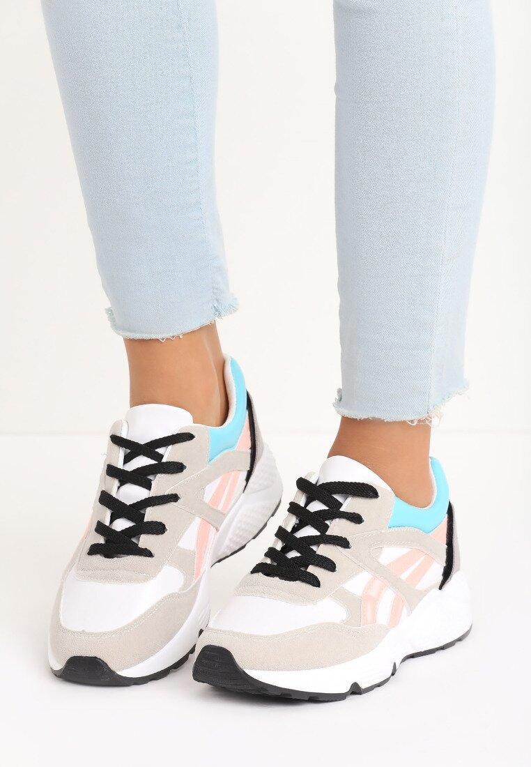 Biało-Szare Buty Sportowe Firmament