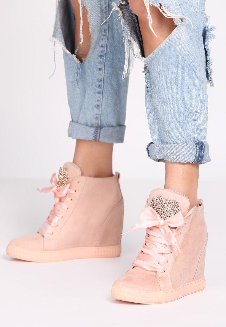 Różowe Sneakersy Feminine