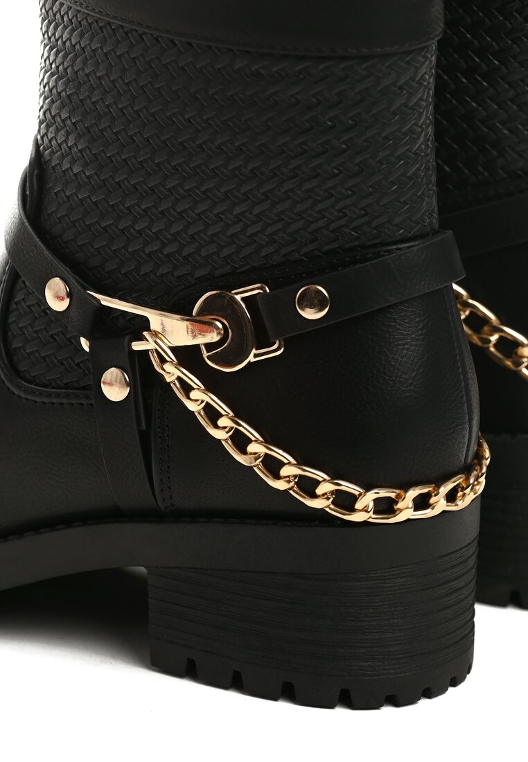 Czarne Botki Anklecuff