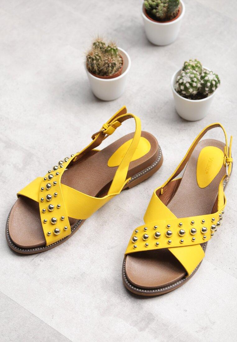 Buty Żółte Sandały Comet
