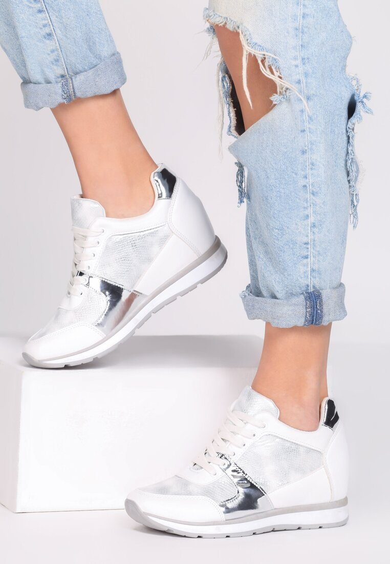 Białe Sneakersy Heavy Dance