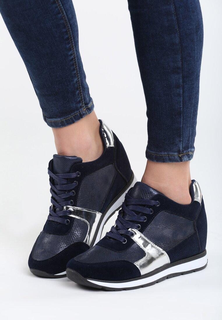 Niebieskie Sneakersy Heavy Dance