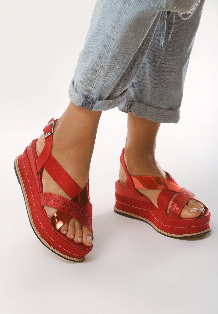 Czerwone Sandały Shiny Shamrock