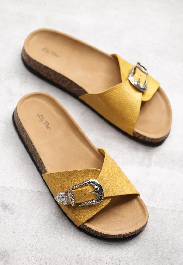Żółte Klapki Croton