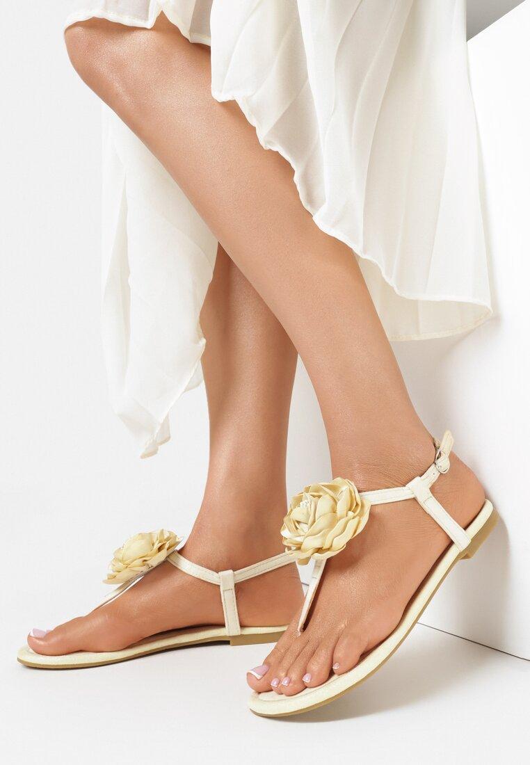 Żółte Sandały Shimmer Heart