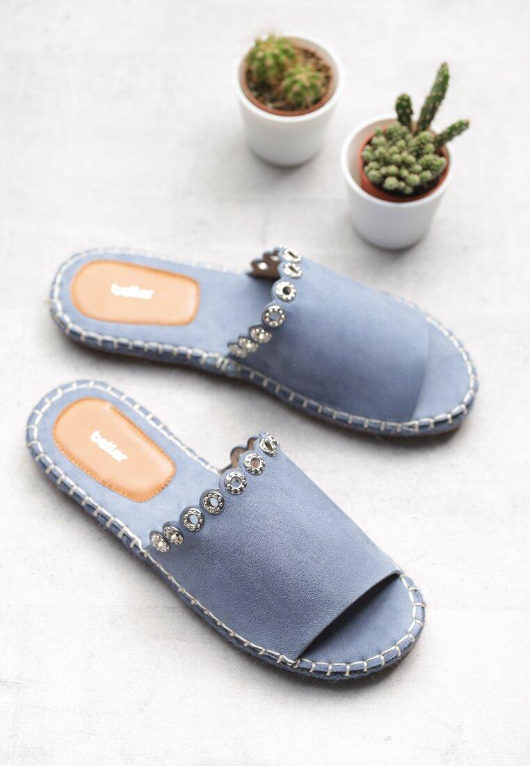 Niebieskie Klapki Hunting For Fashion