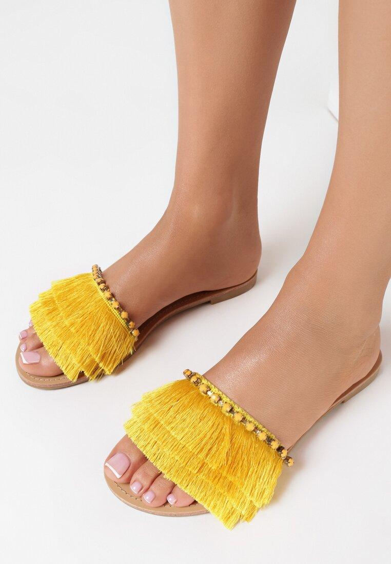 Żółte Klapki Peach Puff