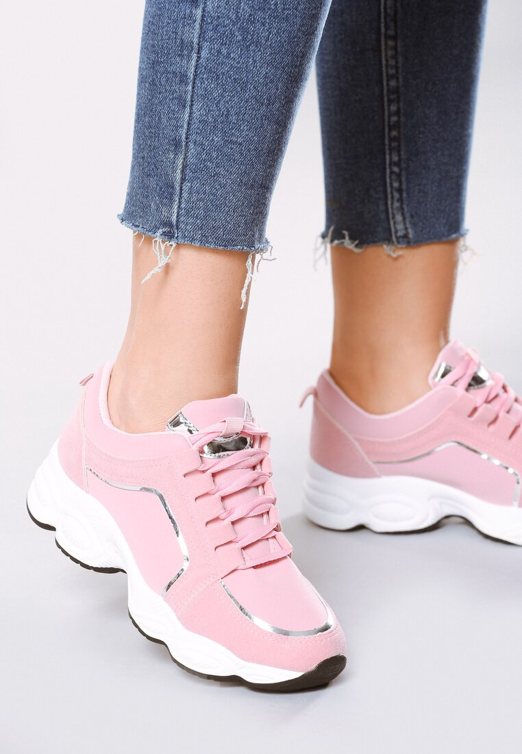 Różowe Buty Sportowe Stretch
