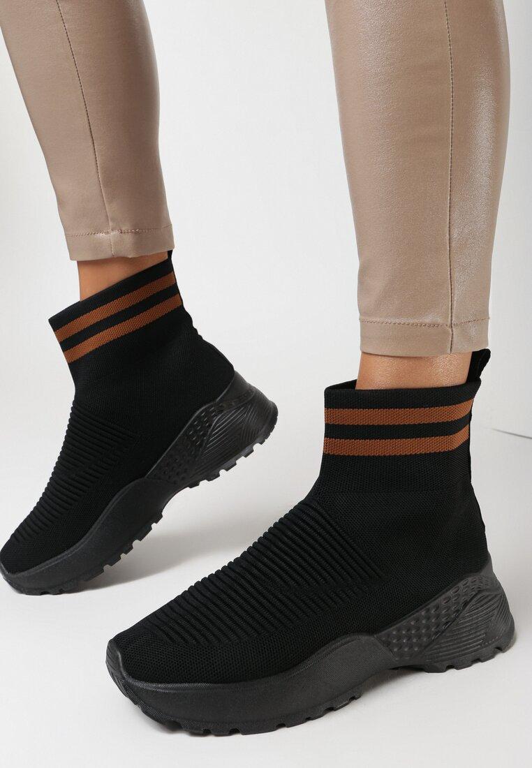 Czarno-Brązowe Sneakersy Breves vices