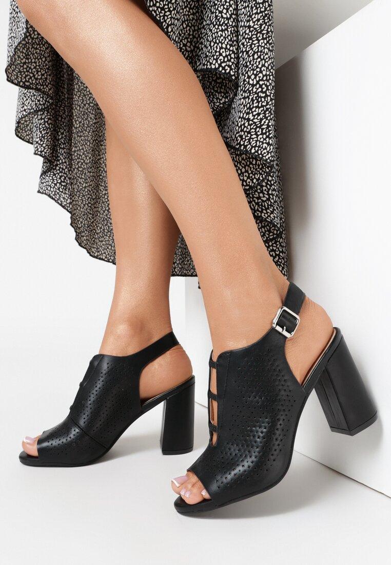 Czarne Sandały Lephali vices