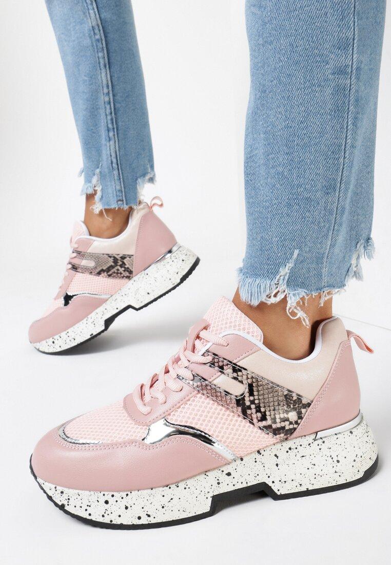 Różowe Sneakersy Liriye
