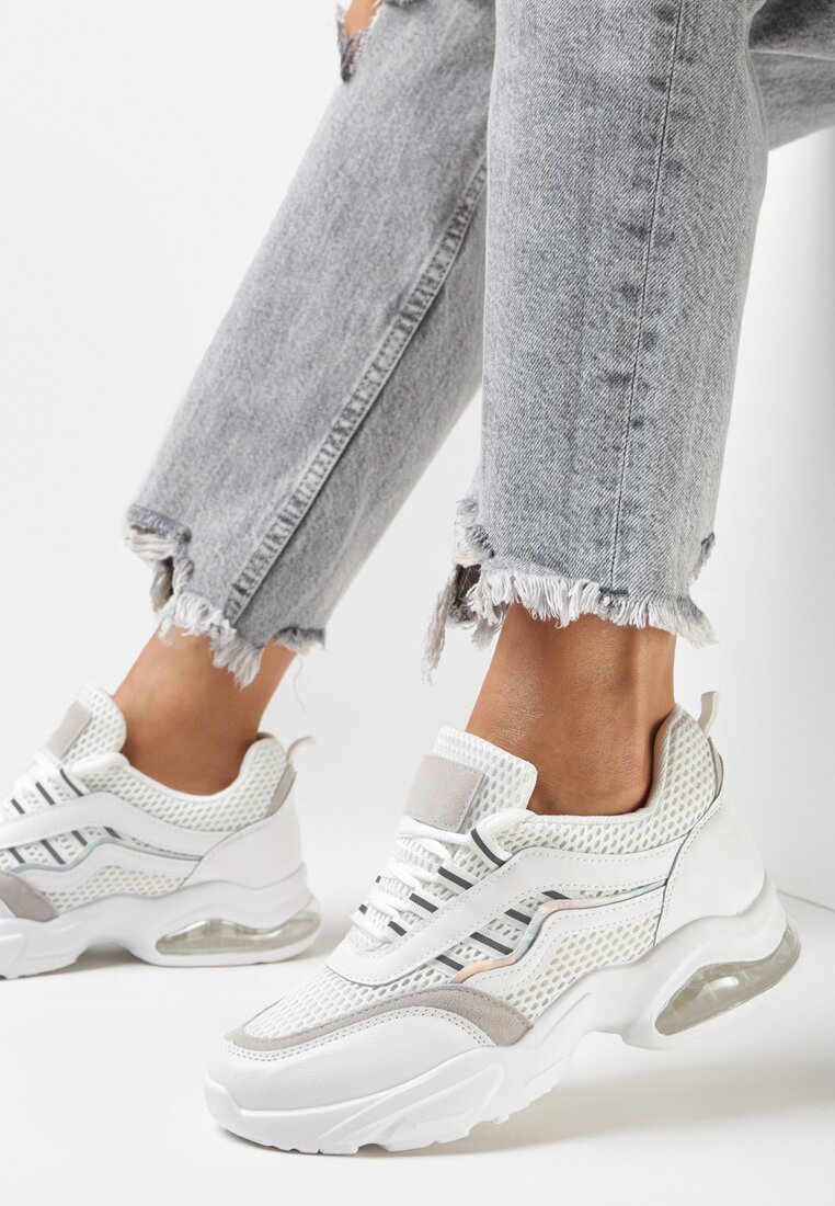 Białe Sneakersy Natural Glisten