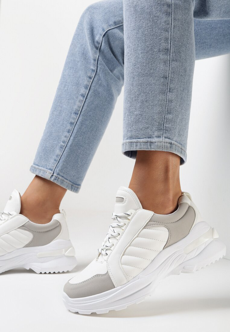 Biało-Szare Sneakersy Hyneh