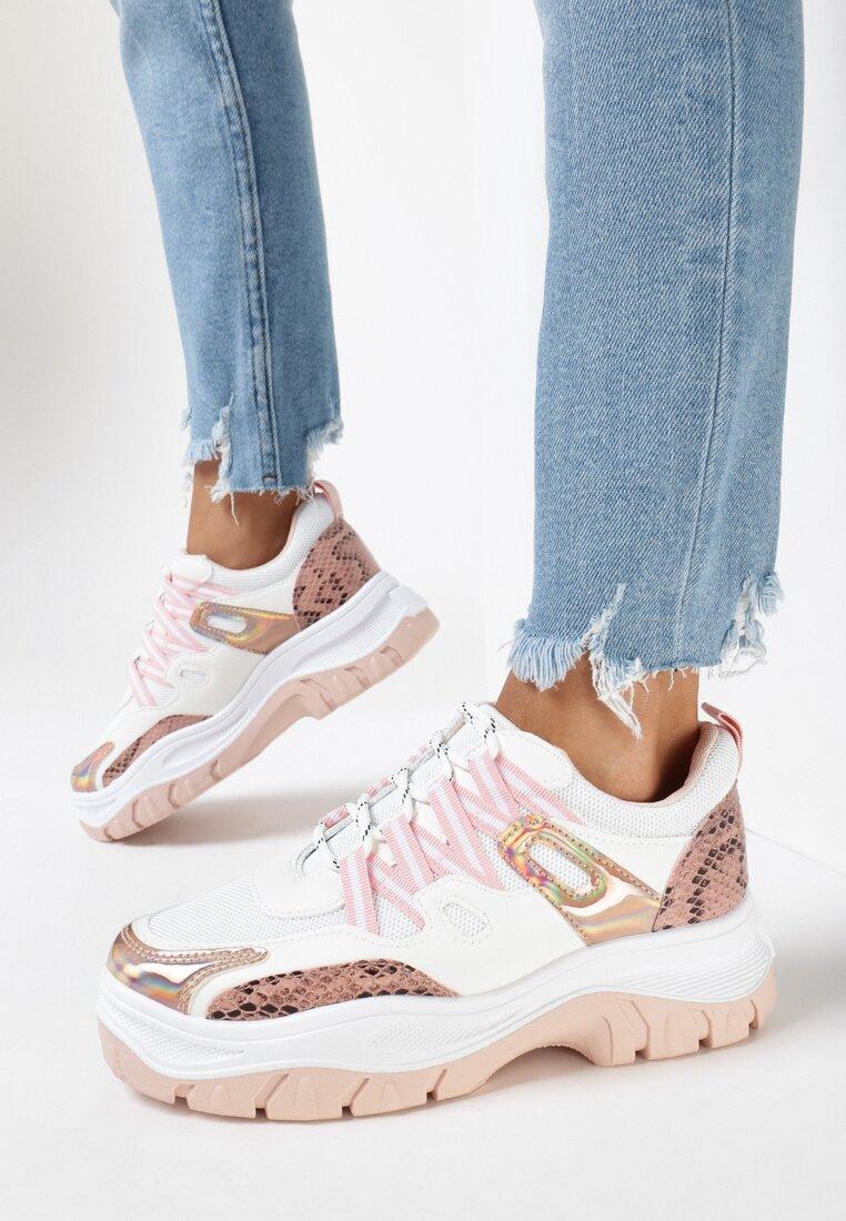 Biało-Różowe Sneakersy Foggyvine